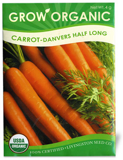 Organic Long Carrot Seeds Danvers Half