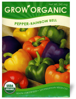 Organic Bell Pepper Seeds Rainbow
